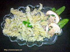 Cheese and Mushroom Pasta
